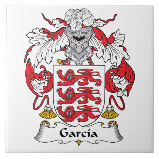 Garcia Family Crest Large Square Tile