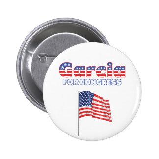 Garcia for Congress Patriotic American Flag Design Buttons
