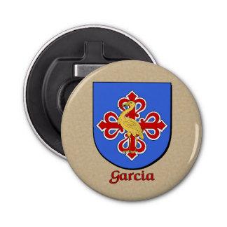 Garcia Historical Arms Shield Button Bottle Opener