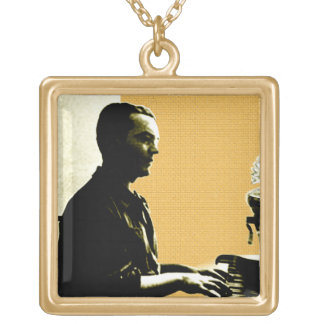 García Lorca at Piano Gold Plated Necklace
