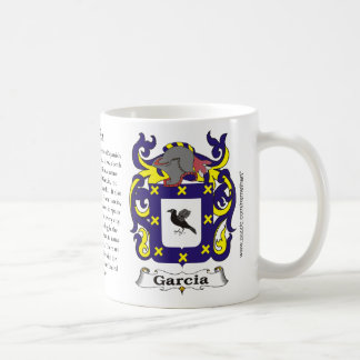 Garcia, the origin, the meaning and the crest mug