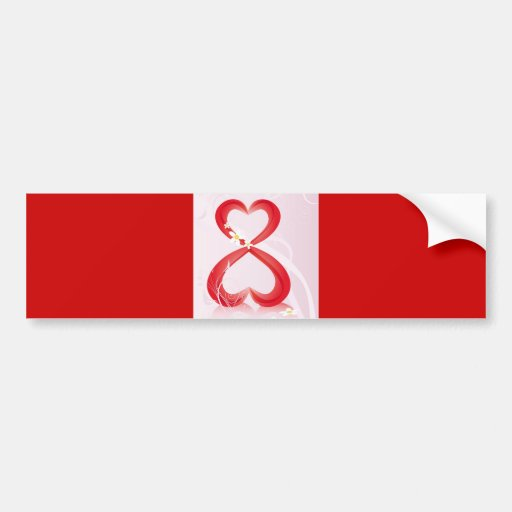 Garcya.us_8m#12 pink red hearts eight love bumper stickers
