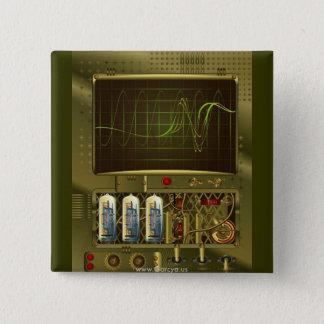 Garcya.us_signal_detected_v8 15 Cm Square Badge