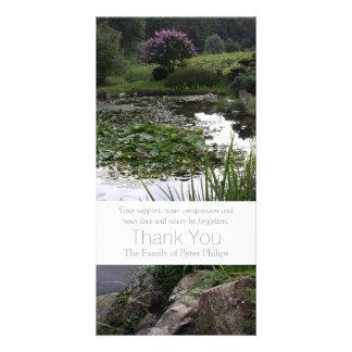 Garden 2 Peaceful Pond Sympathy Thank You 3 Card
