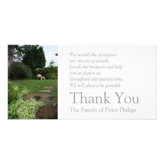 Garden 4 Armchair Sympathy Thank You 2 Photo Card