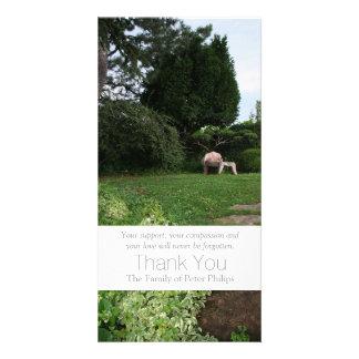 Garden 4 Armchair Sympathy Thank You 3 Photo Greeting Card