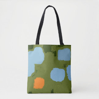 Garden Abstract Art Tote Bag