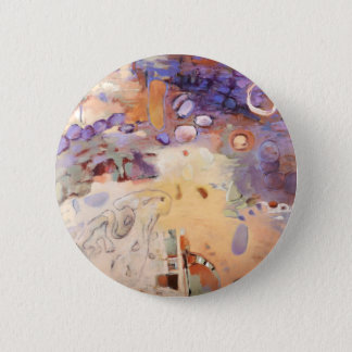 Garden abstract painting 6 cm round badge
