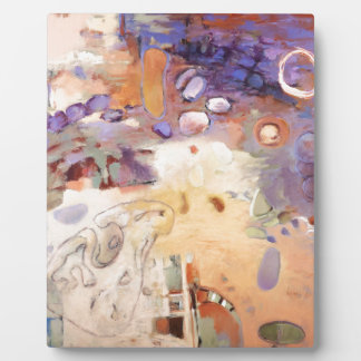 Garden abstract painting plaque
