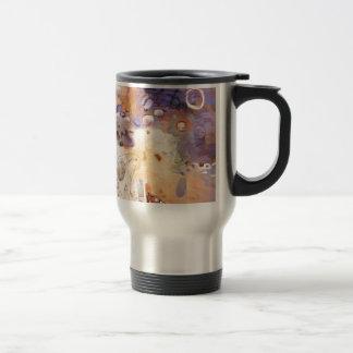 Garden abstract painting travel mug