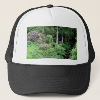 Garden and stream, highlands,Scotland Trucker Hat