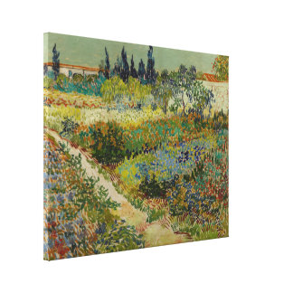Garden at Arles, 1888 Gallery Wrapped Canvas