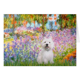 Garden at Giverney - Westie 2 Card