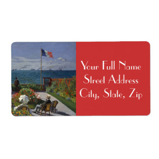 Garden at Sainte-Adresse by Claude Monet Shipping Label