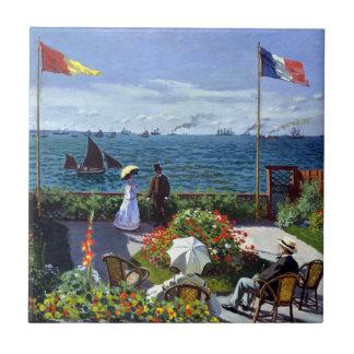Garden at Sainte-Adresse by Claude Monet Tile