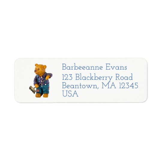 Garden Bear Return Address Label