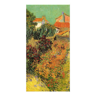 Garden Behind a House by Vincent van Gogh Customised Photo Card