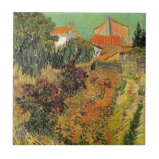 Garden behind a House.  Vincent van Gogh. Ceramic Tile
