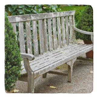Garden Bench Marble Trivet