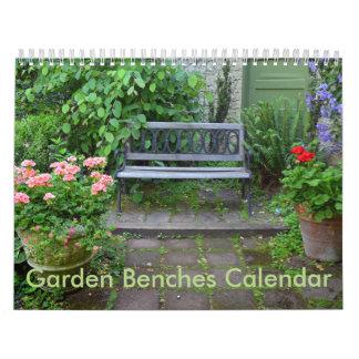 Garden benches calendars