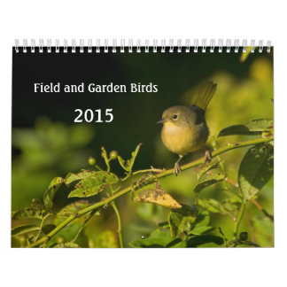 Garden Birds Monthly Calendar