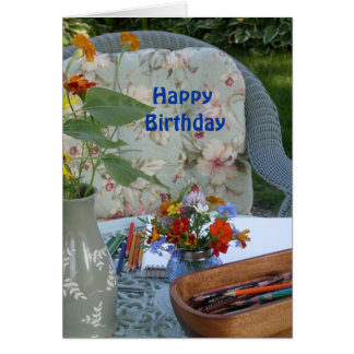 Garden Birthday Card