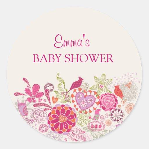Garden Bloom Bird | Baby Shower Sticker