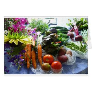 Garden bounty - summer farmer's market card