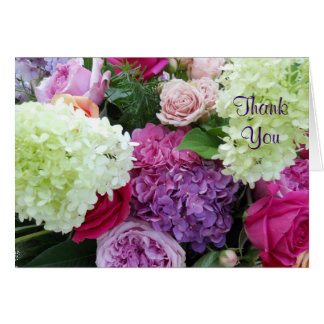 Garden Bouquet Flowers Wedding Gift Thank You Cards