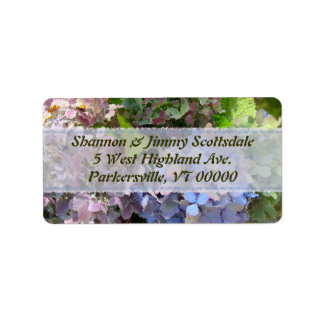 Garden Bouquet Hydrangea Address Sticker