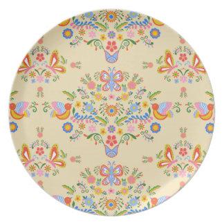 Garden Bouquet ~ Melamine Plate
