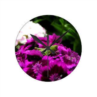 Garden Bouquet Round Clock
