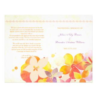 Garden Breeze Floral Wedding Bi Fold Program Flyer