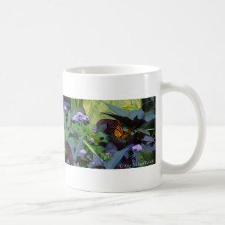 Garden Butterfly Digital Painting/Photograph Basic White Mug