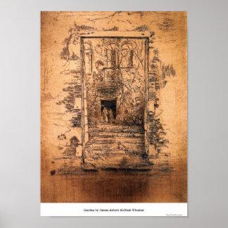 Garden by James Abbott McNeill Whistler Poster