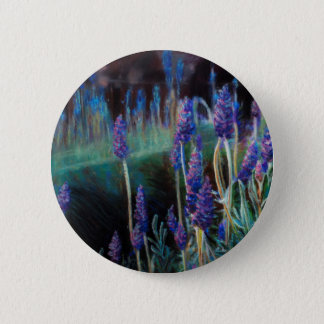 Garden By the Pond at Twilight 6 Cm Round Badge