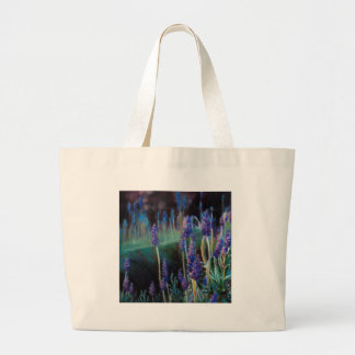 Garden By the Pond at Twilight Large Tote Bag