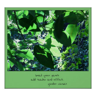 Garden Canvas Haiku Art Print
