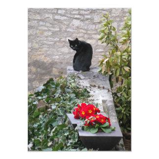 Garden Cat Birthday 11 Cm X 16 Cm Invitation Card