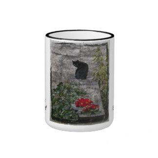 Garden Cat Birthday Ringer Mug