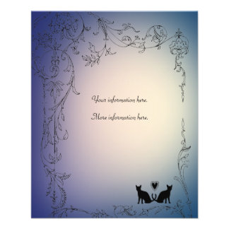 Garden Cat Lovers Wedding Insert 11.5 Cm X 14 Cm Flyer