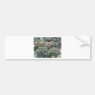 Garden centre with selection of nursery plants bumper sticker