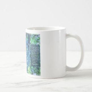 Garden Chair & Kindness Quote Basic White Mug