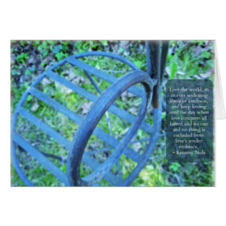 Garden Chair & Kindness Quote Greeting Card