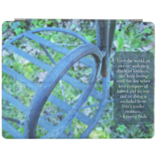 Garden Chair & Kindness Quote iPad Cover