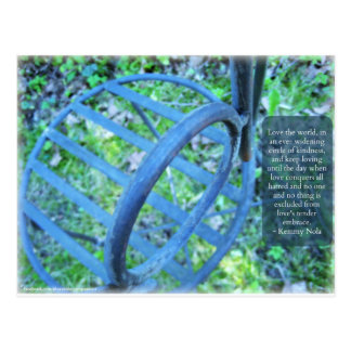 Garden Chair & Kindness Quote Postcard