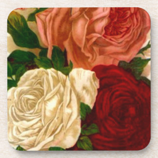Garden Coasters Antique Advertising Heirloom Roses