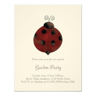 Garden Collection · Ladybug 11 Cm X 14 Cm Invitation Card