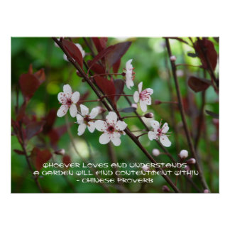Garden Contentment-Chinese Proverb Print