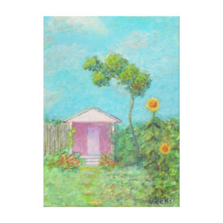 GARDEN COTTAGE Canvas Print